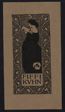 09)Nr.134- EXLIBRIS- Jugendstil / art nouveau, Joseph William Simpson
