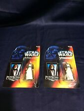 Star Wars PotF Ben (Obi-Wan) Kenobi Red Card Action Figure Lot of 2 Both Sabers