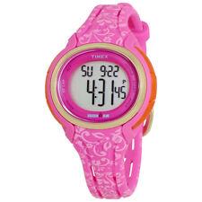 Timex Ironman Ladies Pink Floral Resin Digital Watch TW5M030009J