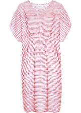 SALE!!! Stilvolles Kleid mit weiten Flügelärmeln in hellpink/weiß  Gr. 46 - Neu