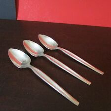"3 William Rogers Mfg. Co. Silverplate Grapefruit Spoons, ""Lines"" pattern, 6"""