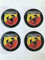4 x 72 mm Silikon Abarth Aufkleber Embleme Felgen Logo Nabendeckel