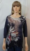 Women's Toffee Apple Size Medium Floral Top Shirt Blouse Casual Work Clothes