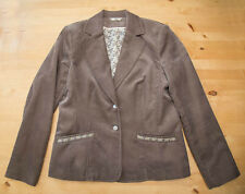 LADIES BROWN CORD JACKET by Klass ~ Size 14