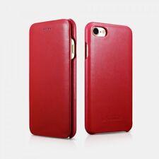 iPhone 7 / iPhone 8 Etui en cuir véritable Luxury Curved Edge Rouge