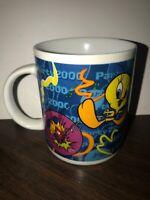Used ~ Looney Tunes Tweety-Bird White Ceramic Saltone Coffee Cup 1999 Standard