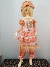 CUSTOM MADE tea dyed LOVE letter flower lace romance ribbons SD bjd dollstown