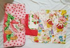 Vintage Strawberry Shortcake Sleeping Bag & Twin Sheet set American Greetings