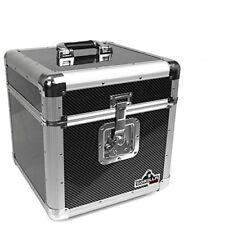 Valises, caisses et sacs noirs en vinyle avec poignée de transport pour équipement audio et vidéo professionnel