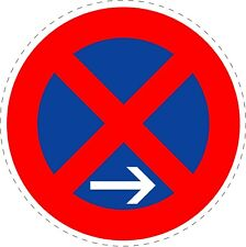 Traffic Sign Stopping Restriction End Stickers 150mmx150mm TR162