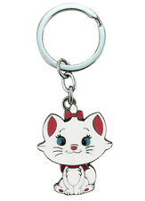 New Disney Keychain ~ Marie The Cat Key Ring ~ Double Side Painting Zipper Pull