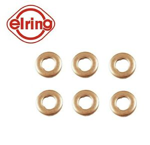 6PCS Elring Fuel Injector Seal Fit Merc E250, E320, GL320, ML250, ML320, R320...