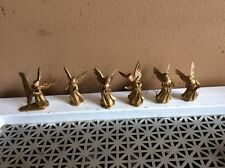 Vintage Lot of 6 Assorted Orchestra Gold Plastic Angels Hong Kong
