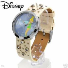 DISNEY WATCH GENUINE CRYSTALS LEATHER BAND RETAIL $100.