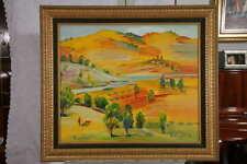 Armenian Painting - Golden Mountains - An oil painting by Alexander Grigoryan