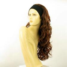 Perruque avec bandeau châtain cuivré méché blond clair ref KAMELYA en 33h130