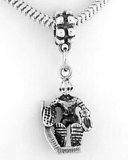 STERLING SILVER HOCKEY PLAYER - GOALIE EUROPEAN STYLE DANGLING BEAD