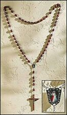Divine Mercy Wood Wall Rosary (MC208) NEW 52 Inches long, 6 Inch Crucifix