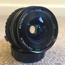 Hanimex MC Automatic F2.8 28mm Wide Angle Prime Lens Olympus OM Fit - Excellent