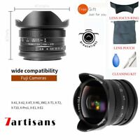 7artisans 7.5mm F/2.8 Manual Focus 180° Fisheye Lens For Fuji FX Mount Cameras