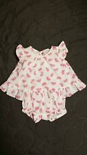 Childrens Place 0-3 Month Baby Girl Watermelon Romper Sunsuit Open Back