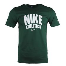Hombre Nike Active Camisa Cuello Redondo Ajuste Atlético Estampada Camiseta  Logo 4892abc68170b
