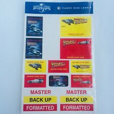 BACK TO THE FUTURE Floppy Disk Labels UNIVERSAL STUDIOS JAPAN 2001
