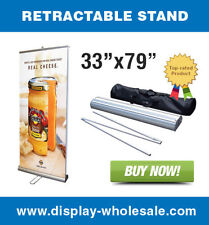 "Double-sided 33"" Retractable Banner Stand"