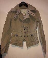 Ladies Diesel Jacket Size M Beige Blazer Biker Style