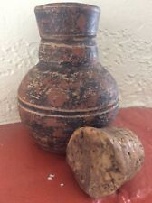 Pre-Colombian Terracotta Clay (Olla) Jar With Unusual large Cork