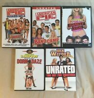 Sexy Hot Comedy DVD Lot of 5 - Van Wilder, National Lampoons, American Pie Lot