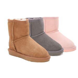AXA Kids Child  UGG Boots Mini Classic,Premium Australian Sheepskin Wool Lining