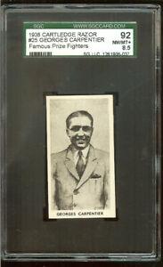 1938 CARTLEDGE RAZOR #25 GEORGES CARPENTIER 88 NM/MT+ 8.5  SGC FAMOUS FIGHT