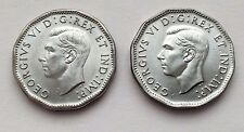 LOT OF TWO CANADA 5 CENTS 1944 & 1945 GEORGE VI COINS