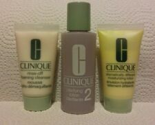 CLINIQUE 3 Step System- Rinse-Off Foaming Cleanser, Clarifying Lotion 2, DDML.
