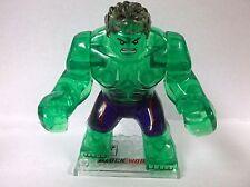 Custom Clear Hulk Big minifigure mini figure toy  transparent ice