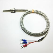 Pt100 ohm Temperature Probe Sensor  L 30mm  NPT 1/4'' Thread with 2M lead Wire