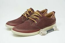 ECCO Collin Nautical Men's Casual Lace Sneaker Size 9-9.5 43 (Port/Red)