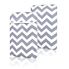 "Chevron GRAY Sleeve Bag Cover Case for All 13"" Macbook / Air / Pro / Chromebook"