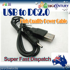 GPS Tablet MP4 USB Male to 5V DC 2.0 x 0.6mm Barrel Power Cable Cord for Nokia