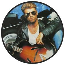 "GEORGE MICHAEL FAITH  HIGH QUALITY  VINYL STICKER 100MM ROUND 4"" ,.MORE LISTED."