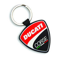 Ducati Corse Shield Rubber Keychain Keyring Red NEW 2018