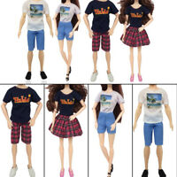 1set party doll clothes accessories doll top dress for boys girls best gift Px