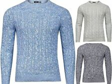 Men's No Pattern Crew Neck Chunky, Cable Knit Knit Jumpers & Cardigans
