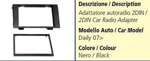 MASCHERINA AUTORADIO 2DIN PER IVECO DAILY DEL 2007 COLORE NERO