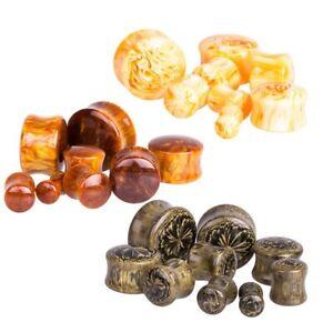 1 x Pair of Acrylic Resin Ear Plugs Piercing Stretchers Jewellery Stretchers