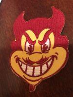 "ASU Arizona State University Sun Devils vintage embroidered iron on patch 3"" X 2"