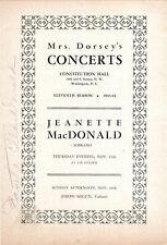 Jeanette MacDonald Autograph, Mrs. Dorsey's Concerts 1943/44