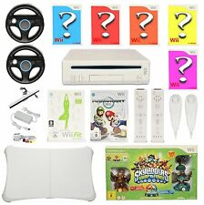 Nintendo Wii Megaset  8 Spiele ♦ Mario Kart - Wii Fit ♦ 2x Remote Nunchuck Neu ♦