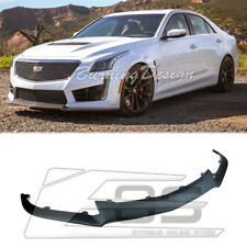 For 16-Up Cadillac CTS-V Primered ABS Plastic Front Lip carbon Package Style New